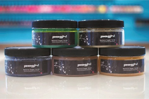 <p>Posh! sugar scrubs are made in-house from organic ingredients.</p>