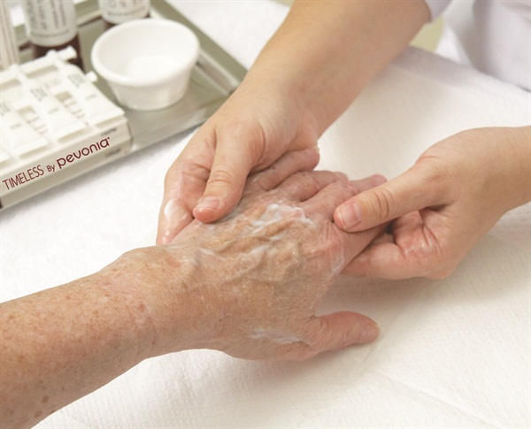 Timeless by pevonia s de aging hand treatment technique nails