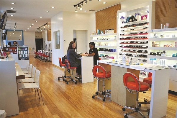 <p>Keeping noise down is a priority at MiniLuxe, a Boston-area chain of nail salons.</p>