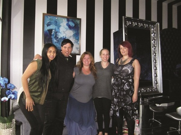 <p>That's Wet Canvas owner Diana Sek, nail artist and Artistic Nail Design educator Ruben Eduard, me, my sister-in-law Alison, and nail artist Karissa Burns.</p>
