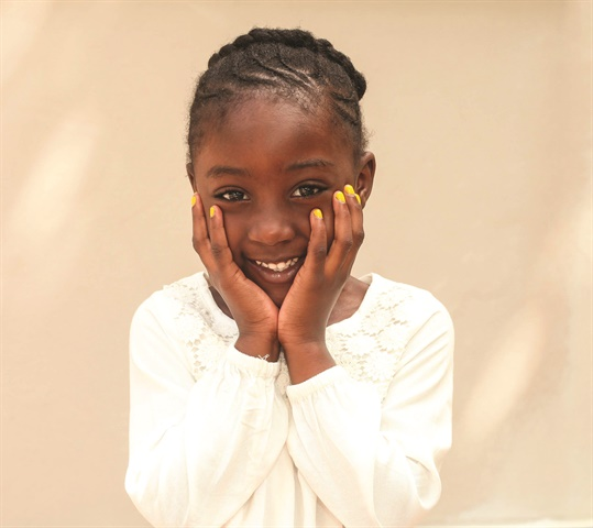 Jaedha models the yellow polish named in her honor.