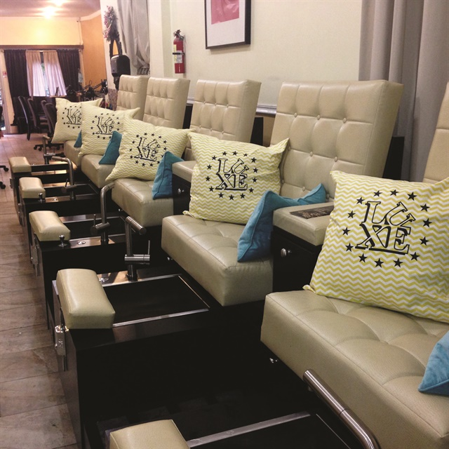 <p>Lisa Nguyen's goal was to create a warm atmosphere inside the salon to make her clients and employees feel welcome.</p>