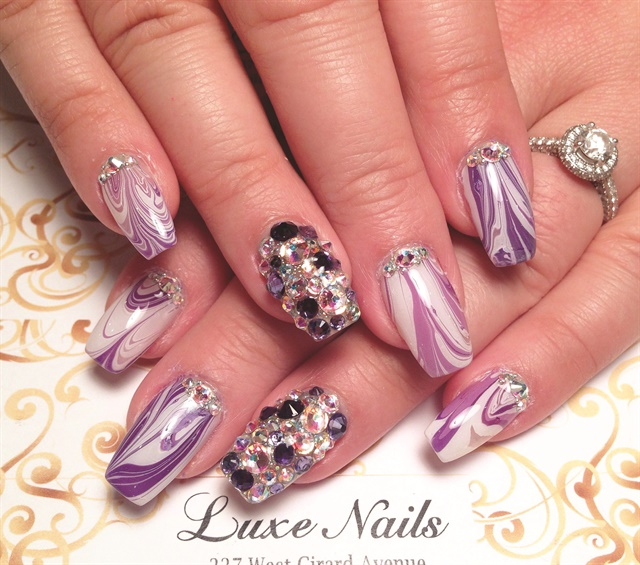 Luxe Nails lets nail art clients select from 600 bottles of polish and a variety of gems and embellishments.