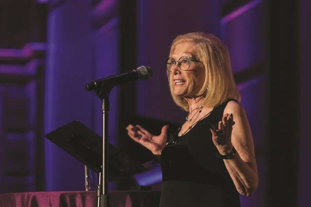 <p>Sydell Miller announced her foundation's new scholarship program while accepting the Beauty Changes Lives Foundation's Legacy Award on behalf of herself and her late husband Arnold.</p>