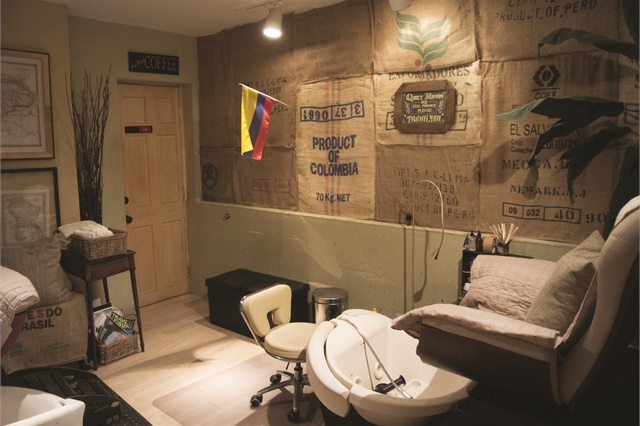 <p>The two pedicure chairs are in a separate back room to promote relaxation.</p>