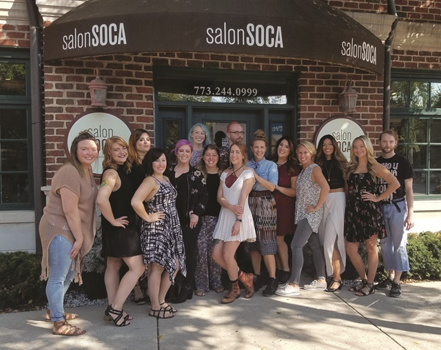 The gang at Salon Soca use a Roll the Dice promotion to encourage clients to pre-book their next appointment.