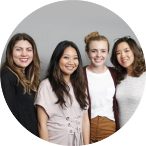NAILS executive editor Beth Livesay, model Veronica Tea, cover tech Chelsea King, and NAILS art director Yuiko Sugino