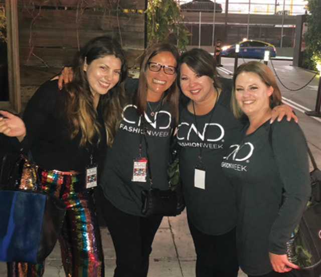 I recently got to enjoy some quality time with team CND after these amazing techs pulled off a Fashion Week show for Libertine in Los Angeles.