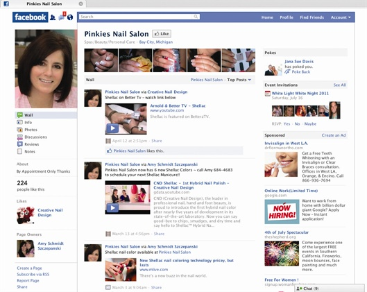 Facebook is a free way to keep your name in front of the public and fill any last-minute holes in your appointment book.