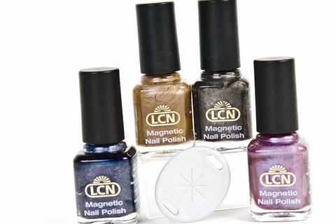 With Lcn S Magnetic Nail Polish You Can Create Unique Art Using The Magnets That Come This Dynamic Set Are Held Over Wet