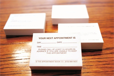 For Those Who Like Their Organizational Tools Low Tech The Appointment Book Co Has Been Printing Books Beauty Industry Since 1963