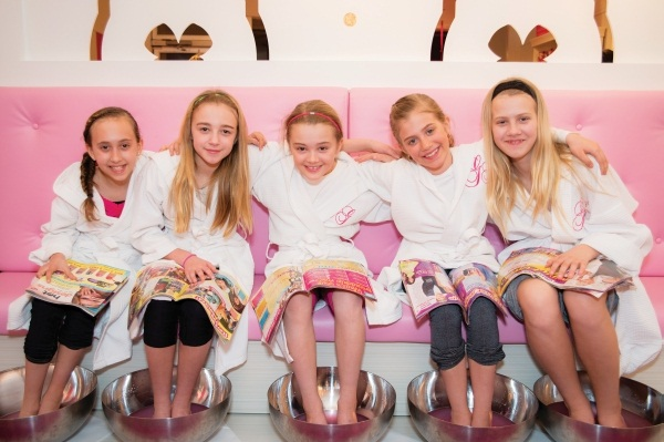 <p>These satisfied young clients enjoy a Pedi Party at Glama Gals Tween Spa in Newmarket, Ontario, Canada.</p>