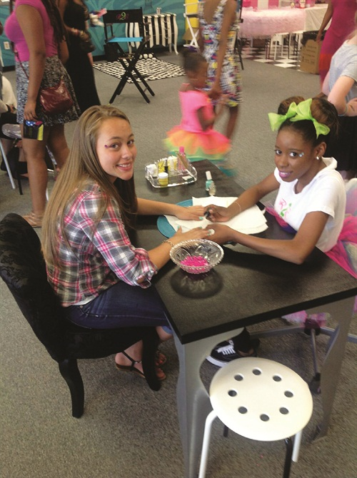 <p>At Rotten 2 the Core Kidz Spa in Bowie, Md., tweens enjoy fun manicures with bright nail colors.</p>