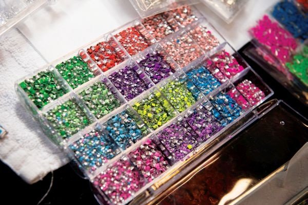 <p>We love all the bright colors and shapes of these nail studs from Ocean Nail Supply.</p>