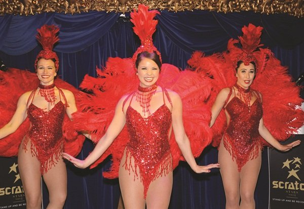 <p>Entertainment was provided by London-based dance troupe Cabaret Rouge.</p>