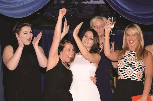 <p>The folks from Bodylines in Kent celebrate their victory in the category Nail Salon of the Year — Salon Environment. </p>