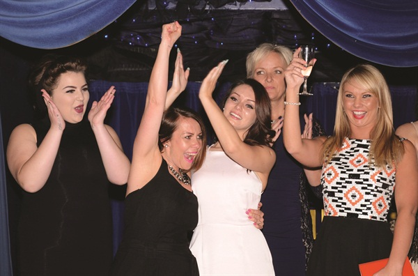 <p>The folks from Bodylines in Kent celebrate their victory in the category Nail Salon of the Year — Salon Environment.</p>