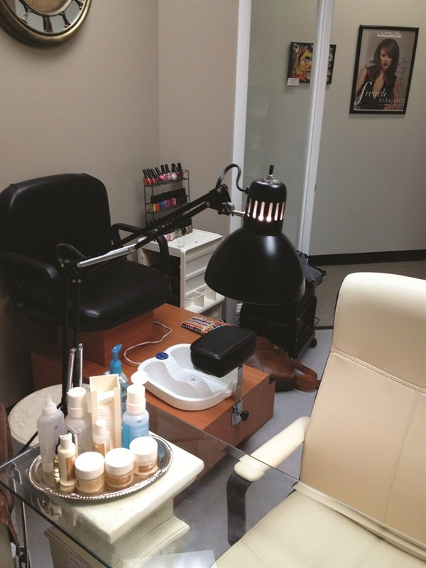 <p>Pedicures are another new addition to Wesig's menu.</p>