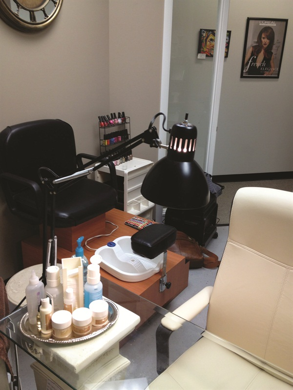 Pedicures are another new addition to Wesig's menu.