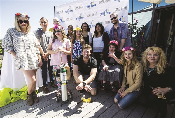 The teens spent time with celebrities including Austin Stowell, Haley Pullos, Halston Sage, and Cailee Rae.