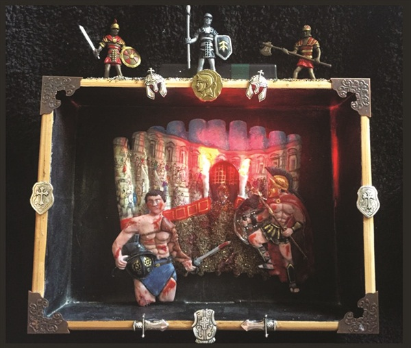 <p>Abbott claimed second place in a recent boxed art competition with a gladiator theme.</p>