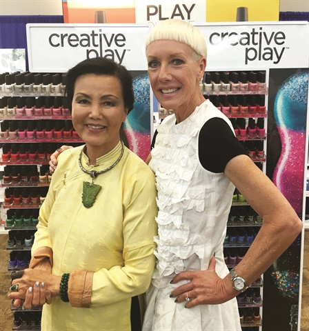 Jan Arnold announced Kieu Chinh's involvement with Creative Play during I Heart CND at The Best Lil' Nail Show in Texas.