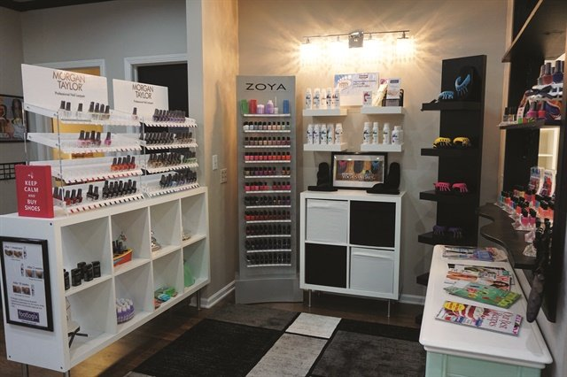 Stay Polished offers a free bottle of nail polish with every nail service.