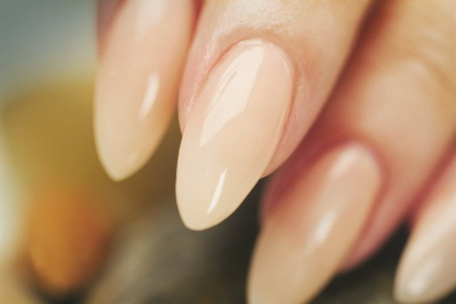 Moskal's tutorial on almond-shaped acrylic nails is one of her most popular videos.