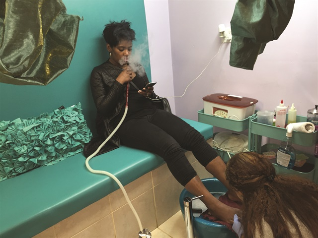 Gia Winfield's Baltimore salon, The Purple Peach Nail Bar, cultivates an edgy vibe, offering clients complimentary wine, hookahs, and a Purple Peach energy ...