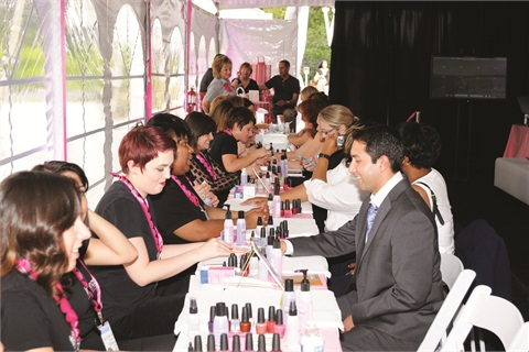 There were over 250 individual services performed on policymakers, regulators, and staffers by more than 40 volunteer beauty professionals.