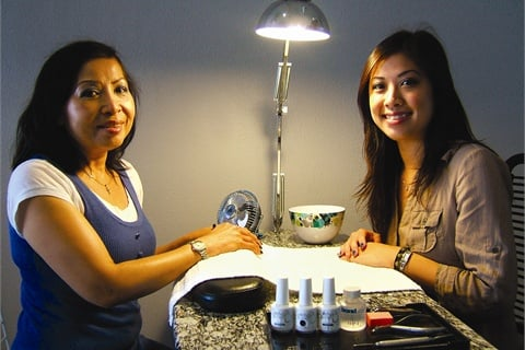 <p>Owner Nancy Som (right) opened Dipped Nails in Redondo Beach, Calif., under the guidance of her mother Seon Huynh, who's owned and operated a nail salon in South Los Angeles for over 20 years.</p>
