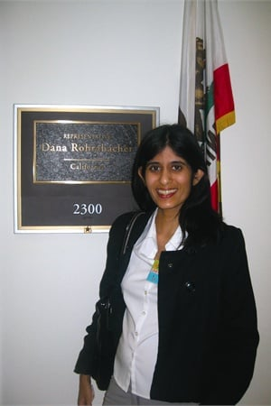 <p>We also got to meet with the staff of Rep. Dana ­Rohrabacher, who is the representative for my home district in Long Beach.</p>