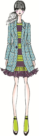 Illustration by Nanette Lepore. Originally appeared in the Pantone Fashion Color Report Fall 2012.