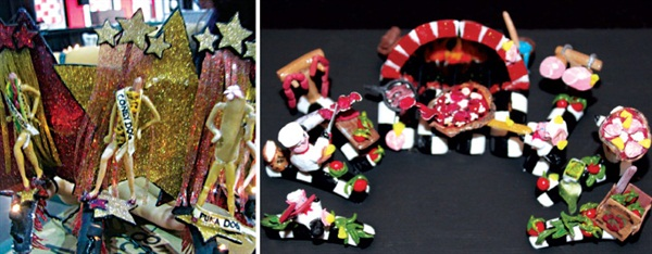 <p>McCown had two standout fantasy nail art entries this year, one for the Hot Dog theme at Premiere Orlando (shown left), and the other was When Pig's Fly at IBS Las Vegas.</p>