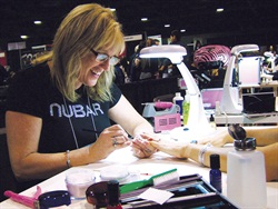 <p>Shannon McCown competed in the Acrylic Tip Overlay competition at the 2011 Nailympics.</p>