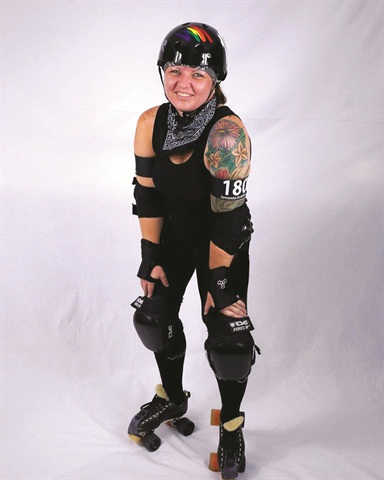 <p>Crystal Rice, nail tech. In her other life: roller derby player.</p>