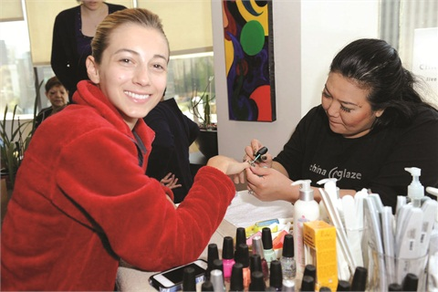 <p>Guests from Wish Upon A Teen were pampered at the China Glaze manicure station.</p>