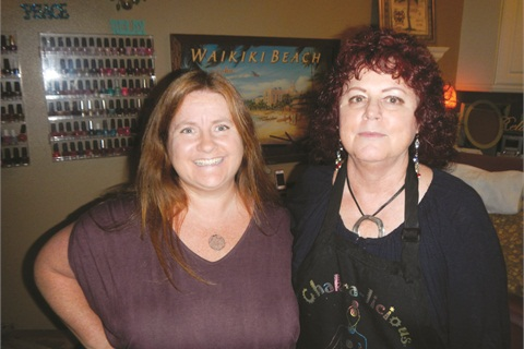 <p>That's me and nail tech Linda Prida!</p>