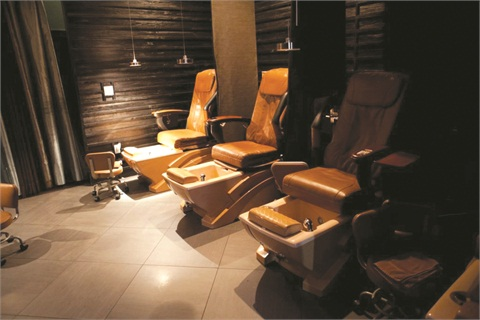 <p>Nails & Co. Spa in West Peabody, Mass. aims to offer clients services that promote inner peace, an ideology reflected in its design.</p>