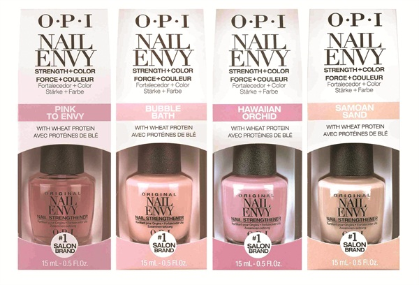 Opi S Original Nail Envy Strengthener Has Added Delicate Feminine Color For The Very First Time Infused With Hydrolyzed Wheat Protein And Calcium