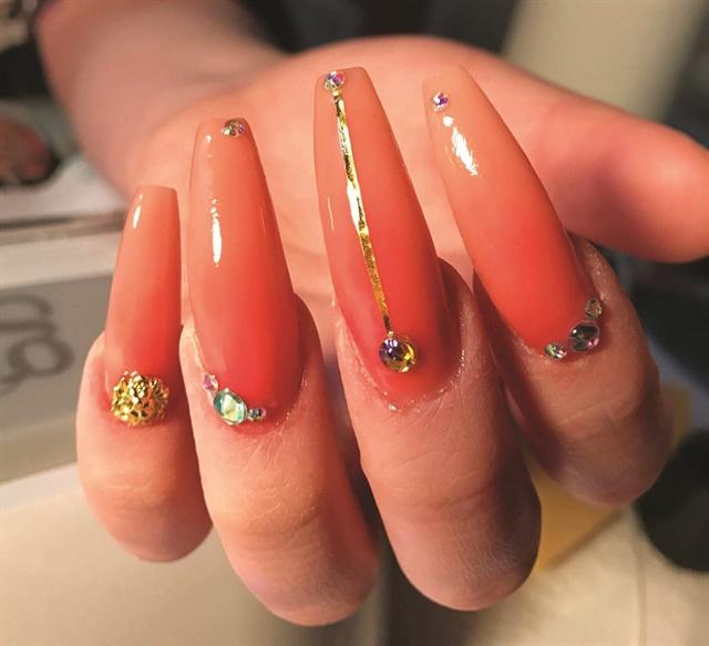 Peach Ombre Nail Art Tutorial - Style - NAILS Magazine