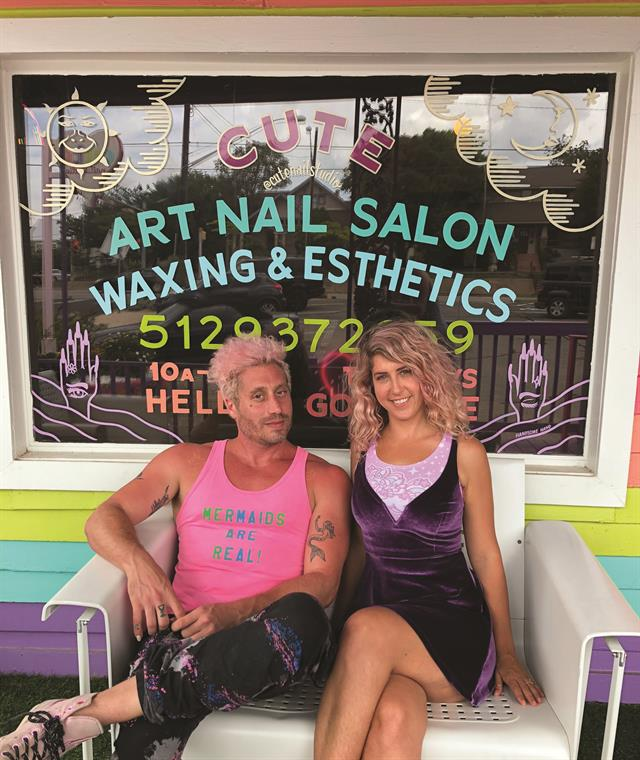 The salon owners and newlyweds met after Maria complimented Jason's nails, and he offered to give her a mani on the spot.