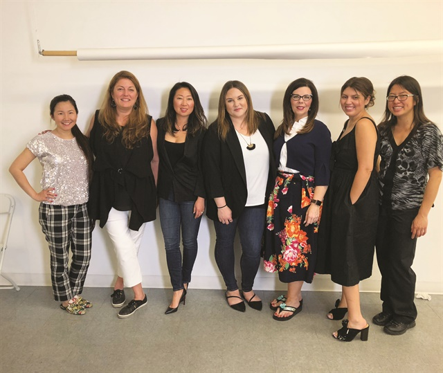 <p>The NAILS team completed a colorful Facebook Live shoot with Team Orly.</p>