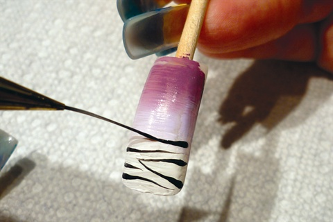 Nail Polish Striping Brush To Bend Light