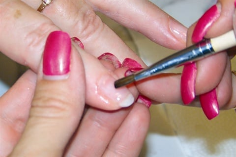 Clear Overlay Using Angel Love Organic Nail System