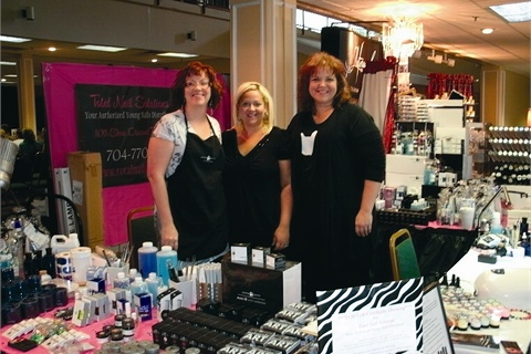 <p>The Young Nails booth was manned by Adrienne Schodtler, Regan Brodt-Richardson, and Teresa Carter.</p>