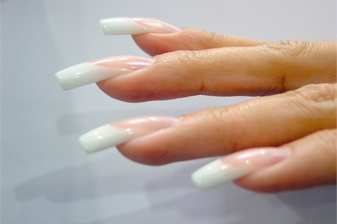 <p>Becker sculpted these gel nails at the World Championship in Germany in March.</p>