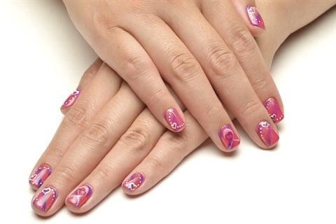 Breast cancer awareness nail art style nails magazine prinsesfo Gallery