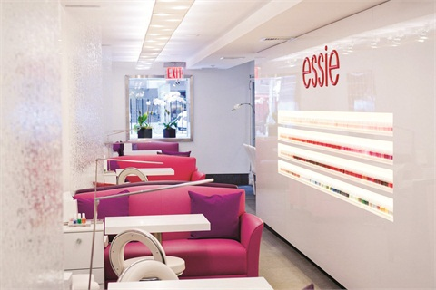 """<p class=""""NoParagraphStyle"""">If the gorgeous colors of the couches in this photo look strangely familiar to you, that's because they were designed to match signature Essie polish shades.</p>"""