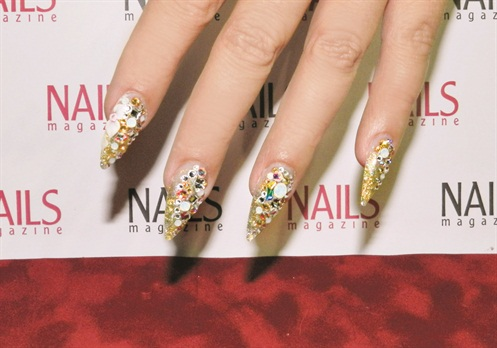 Admirers Flocked To Gina Silvestro S Swarovski Crystal Adorned Nails Like Paparazzi Brangelina